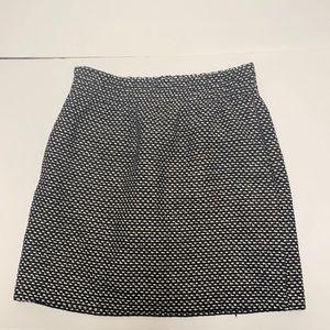 J.crew mini pencil tweed skirt black white size 2